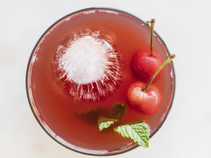 Cherry Mint Shrub Mocktail